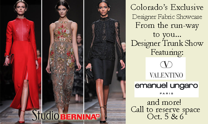 Fashion Designer Trunk Show Valentino Couture Tailoring Women's Fashion Colorado