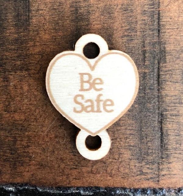 Birch Wood Garment Tag - Be Safe