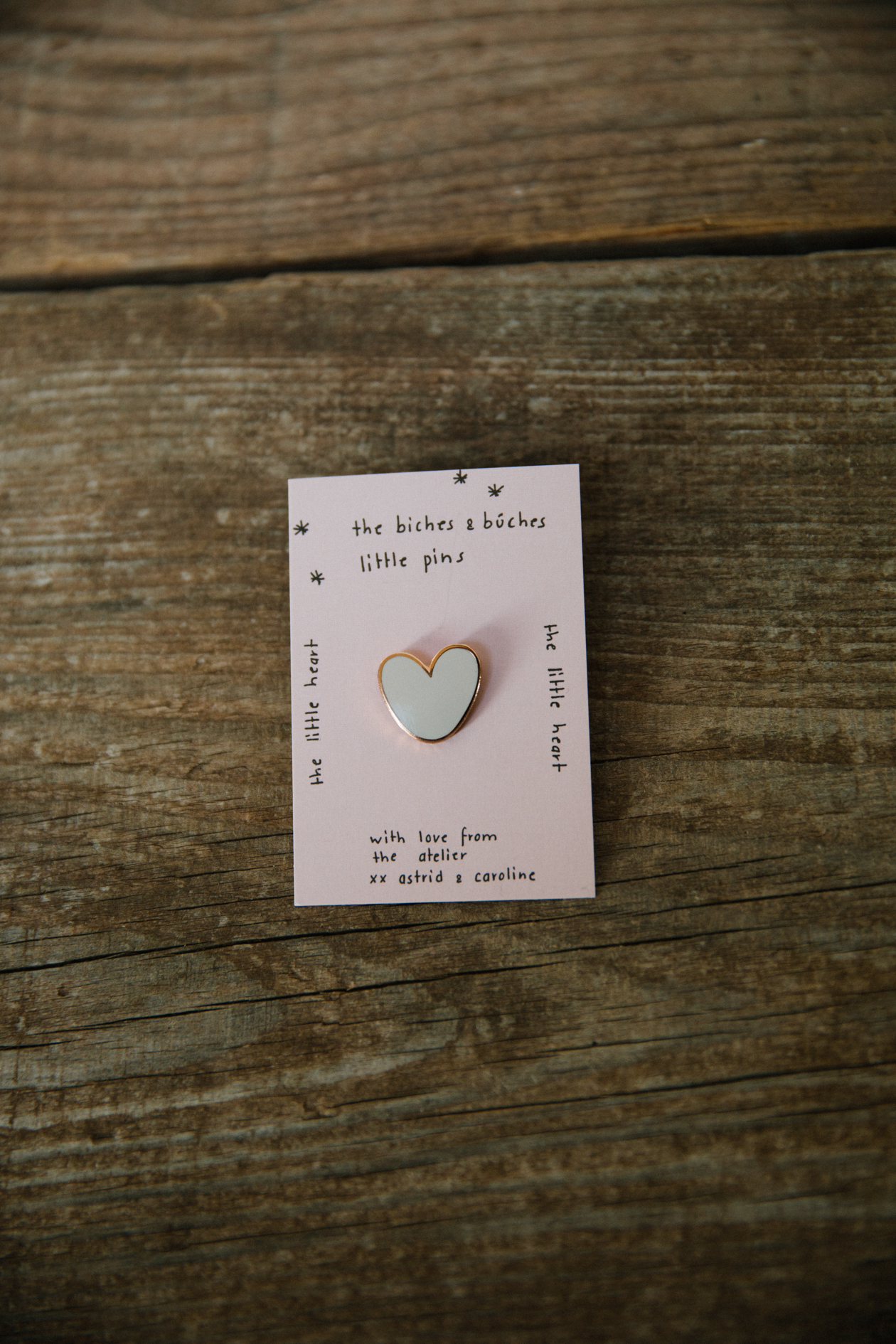 Biches & Bûches Pink Heart Pin