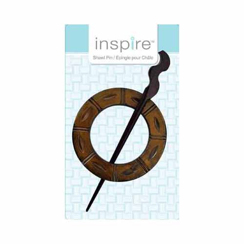 Inspire Buttons Shawl Pin Horn 9810070
