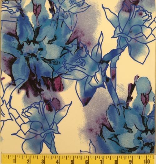 DTY BLUE/LAVENDAR FLORAL