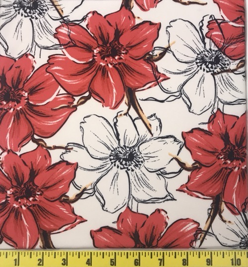 DTY WHITE/RED FLORAL
