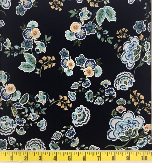 ITY PUFF NVY/BLU/TURQ FLORAL