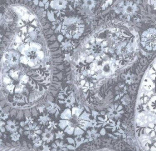 GRAY PAISLEY 108 QUILT BACKING