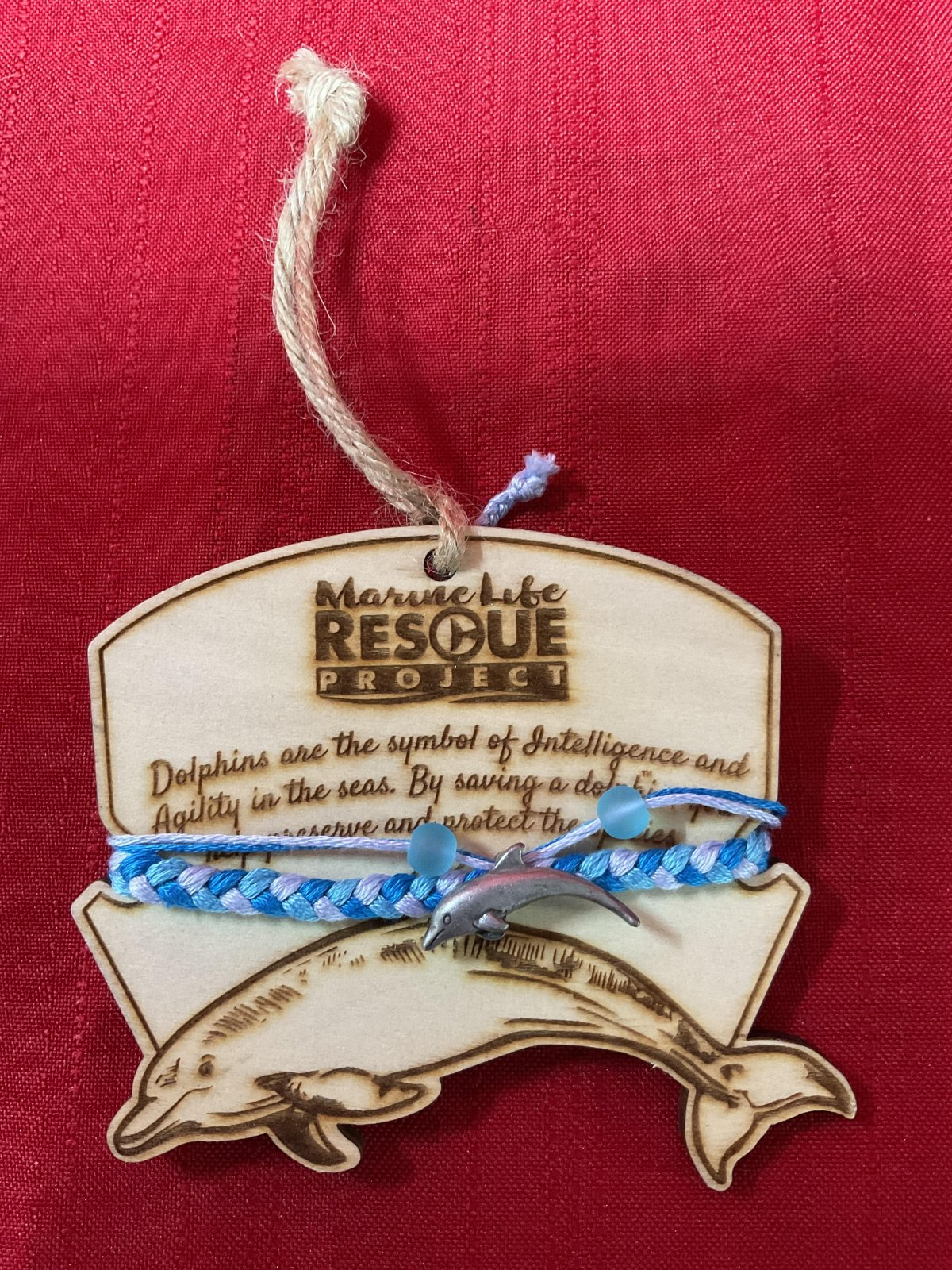 Marine Life Rescue Bracelet w/ Dolphin Ornament