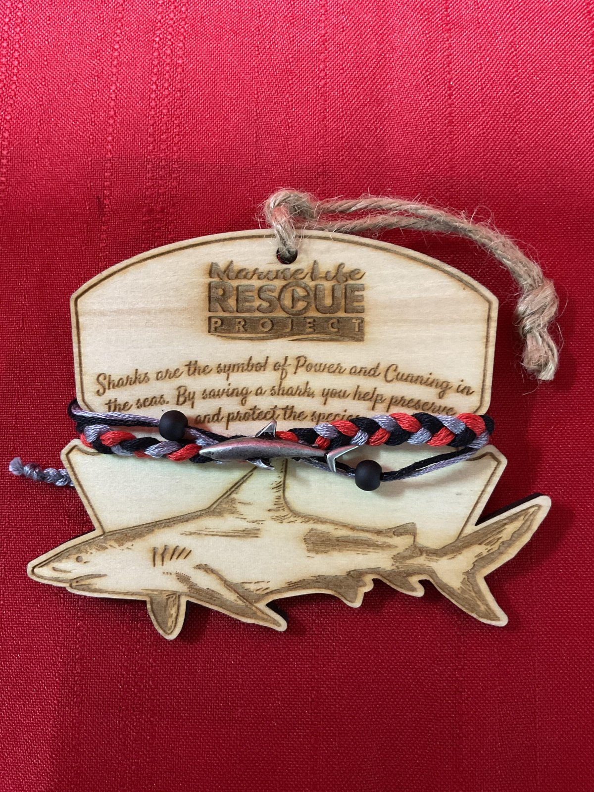 Marine Life Rescue Bracelet w/ Shark Ornament