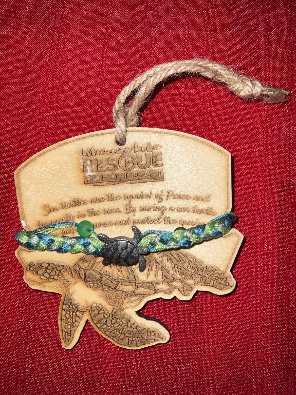 Marine Life Rescue Bracelet w/ Turtle Ornament