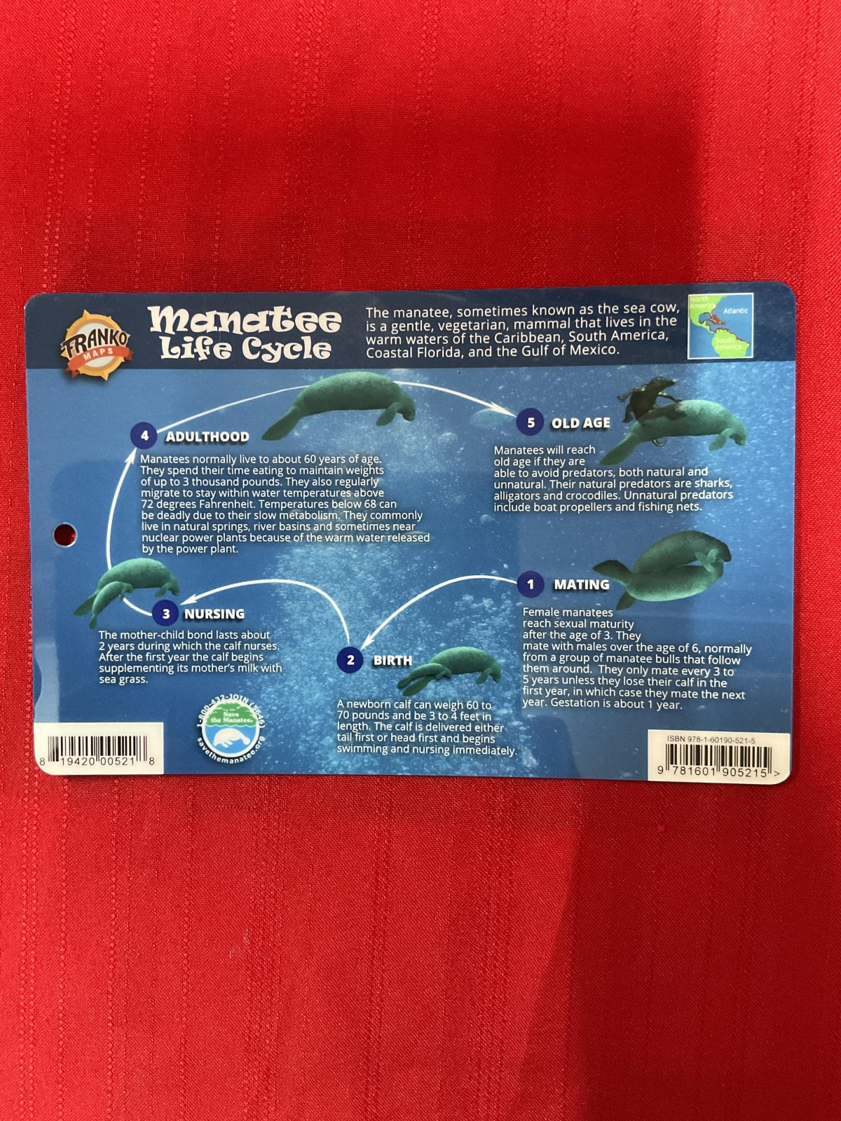 Franko Maps Manatee Life Cycle Guide
