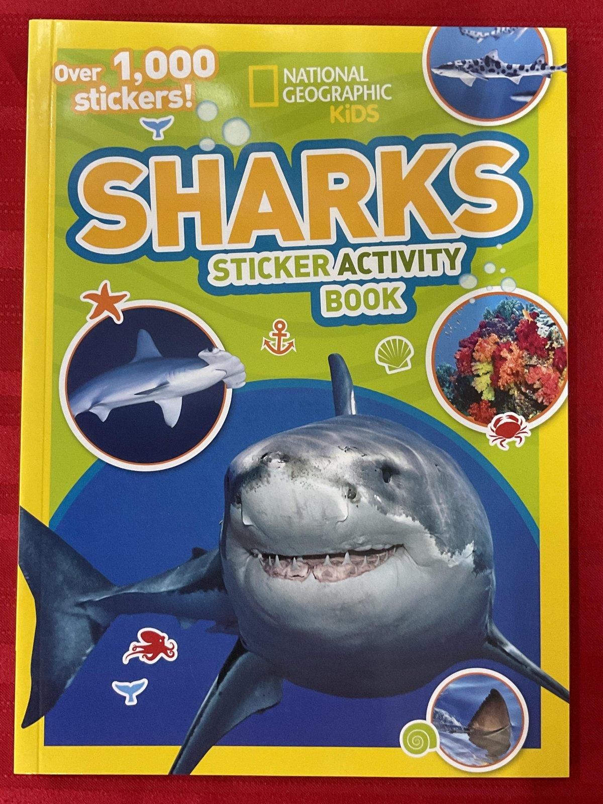 Nat Geo Sharks Sticker Activity Book