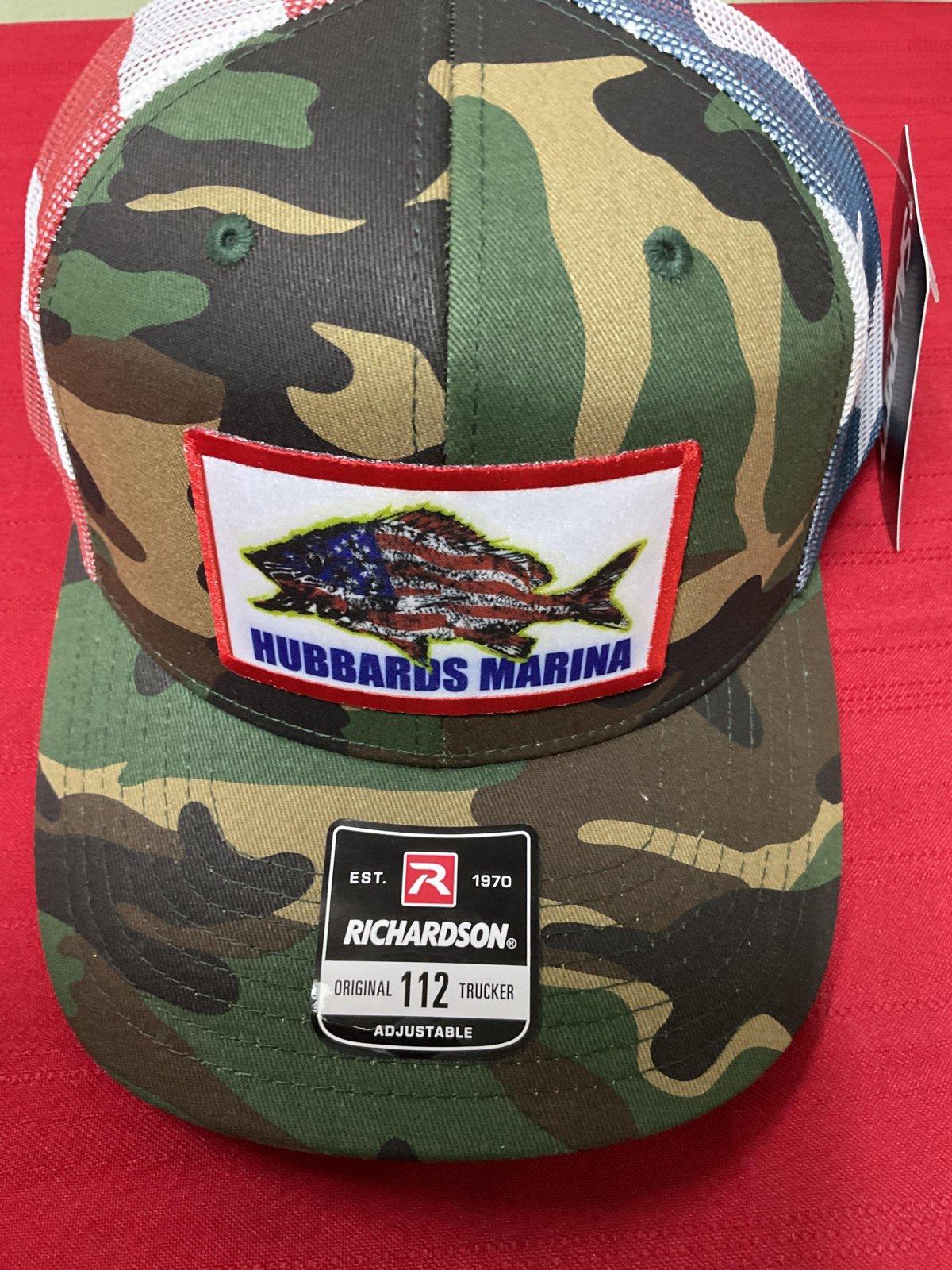 Hubbard's Marina American Grey Snapper patch - Green Camo/American Flag