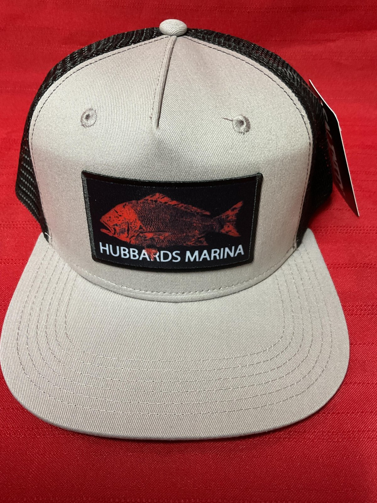 Hubbard's Marina Red Snapper Patch hat - Grey/Black