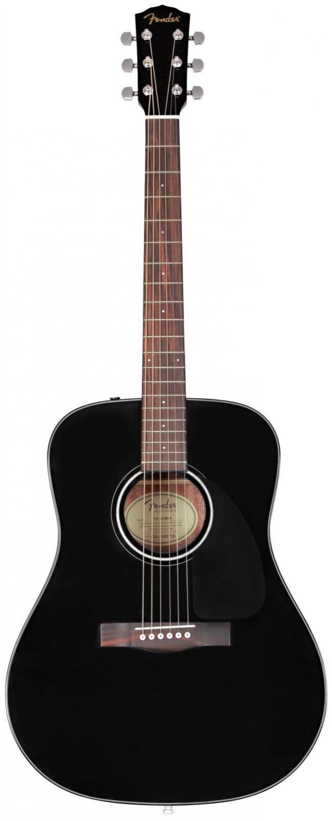 Fender CD-60 Dreadnought V3 w/Case, Walnut Fingerboard - Black