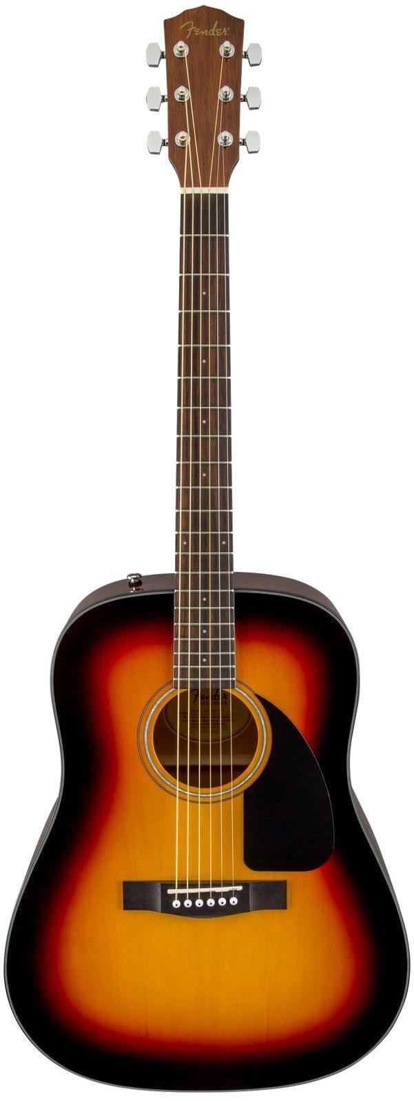 Fender CD-60 Dreadnought V3 w/Case Walnut Fingerboard - Sunburst