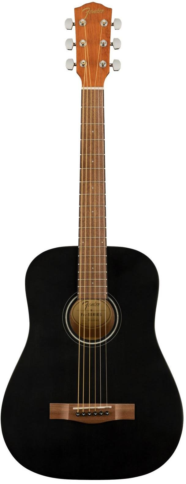 Fender FA-15 3/4 Scale Steel with Gig Bag, Walnut Fingerboard - Black