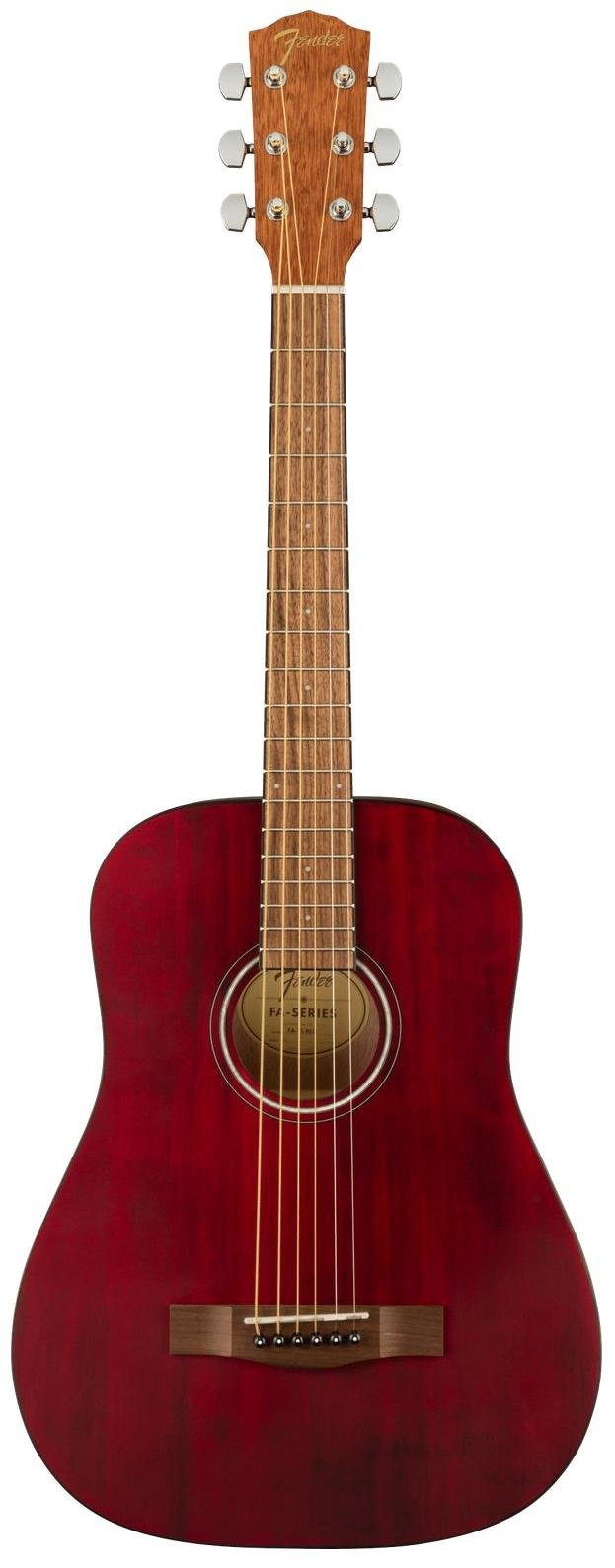 Fender FA-15 3/4 Scale Steel with Gig Bag, Walnut Fingerboard - Red