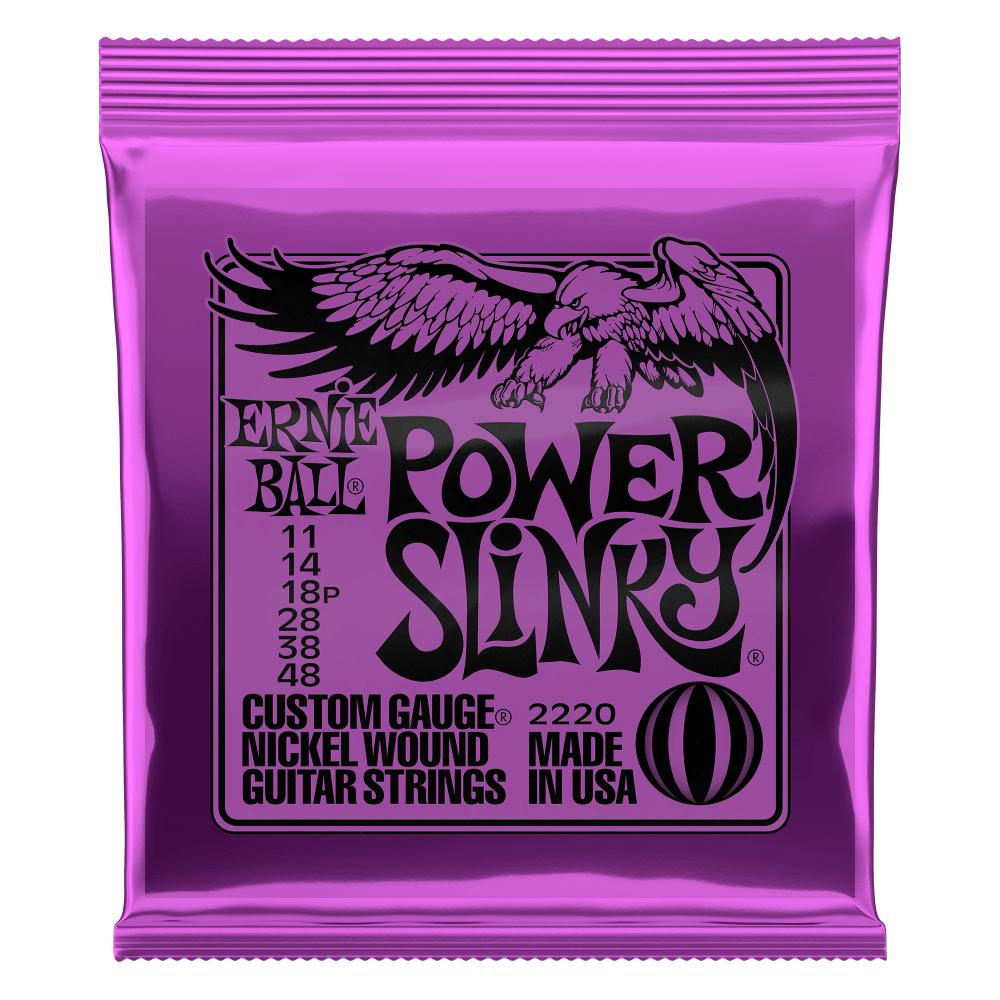 Ernie Ball P02220 Power Slinky Nickel Wound Electric Guitar Strings - 11-48 Gauge
