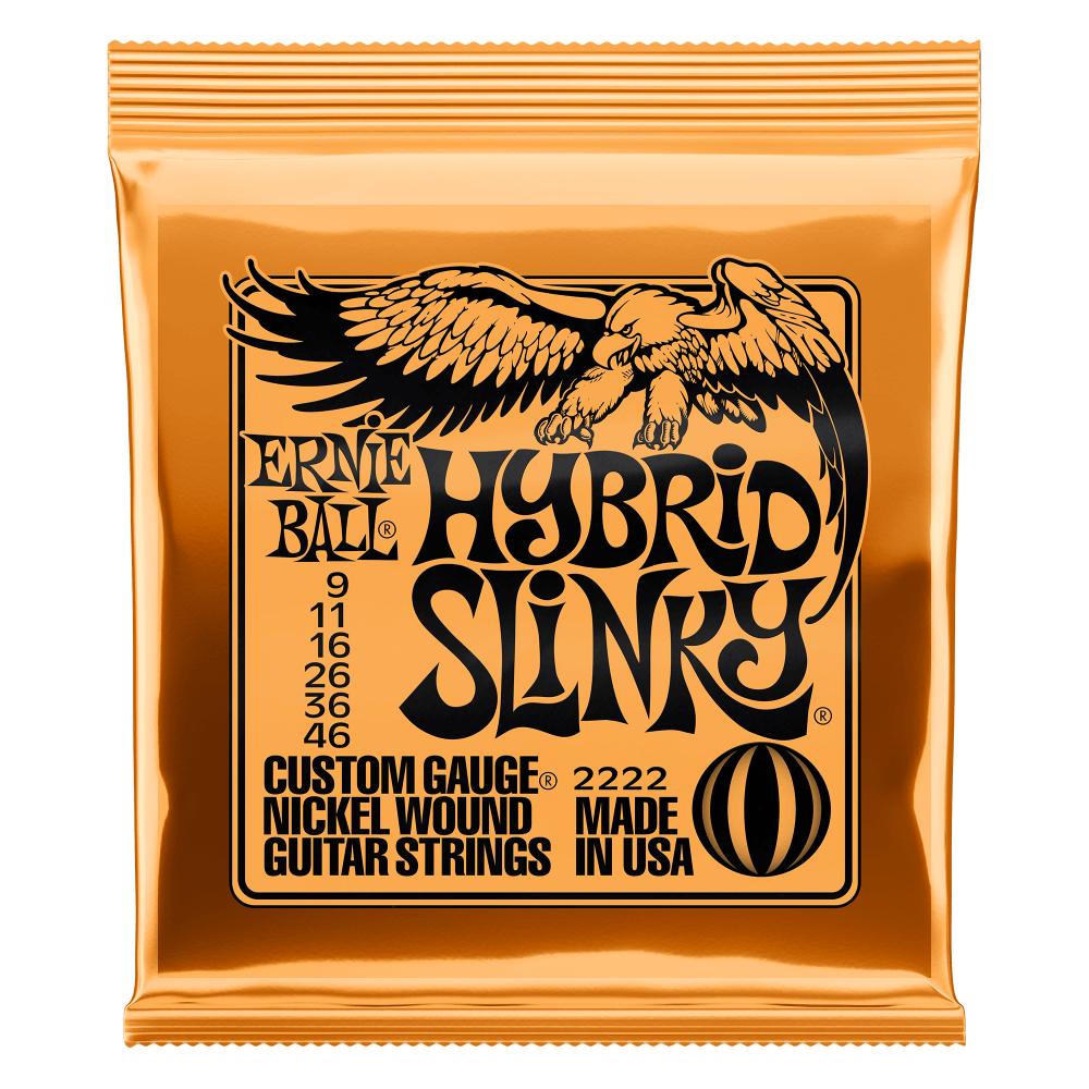 Ernie Ball P02222 Hybrid Slinky Nickel Wound Electric Guitar Strings - 9-46 Gauge
