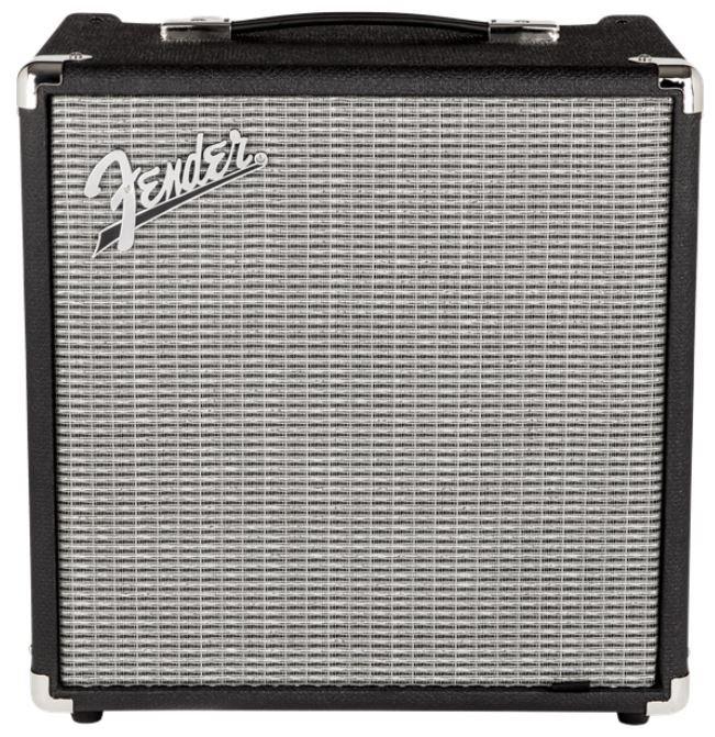 Fender 2370200000 Rumble 25 (V3) Bass Combo Amplifier 120V, Black/Silver