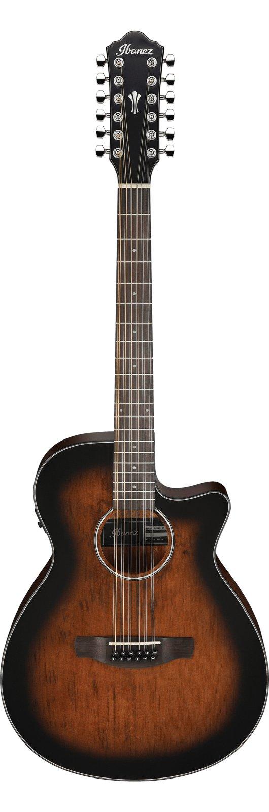 Ibanez AEG 12-String Acoustic-Electric Guitar - Dark Violin Sunburst