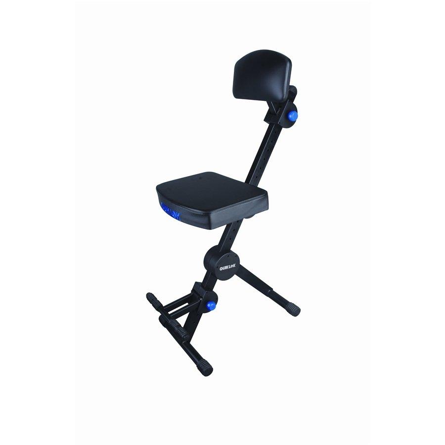Quik-Lok DX749 Deluxe Height Adjustable Musicians' Stool w/ Backrest Footrest