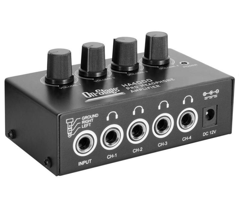 On Stage HA4000 Four-Channel Headphone Amp