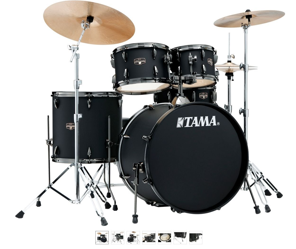 Tama Imperialstar IE52C 5-Piece Kit w/Cymbals - Blacked Out Black