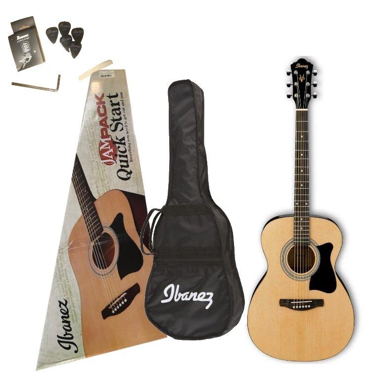 Ibanez IJVC50 6-String Grand Concert Acoustic Guitar Pack - Natural