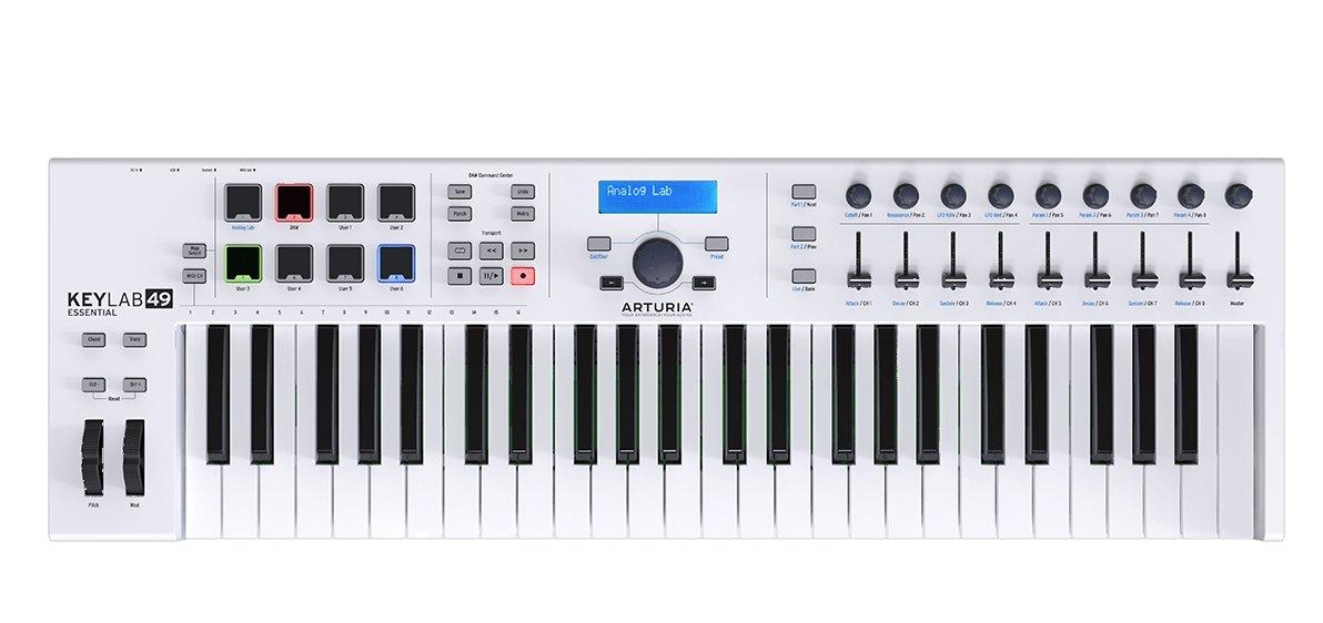 Arturia Keylab Essential 49 Universal Midi Controller - White