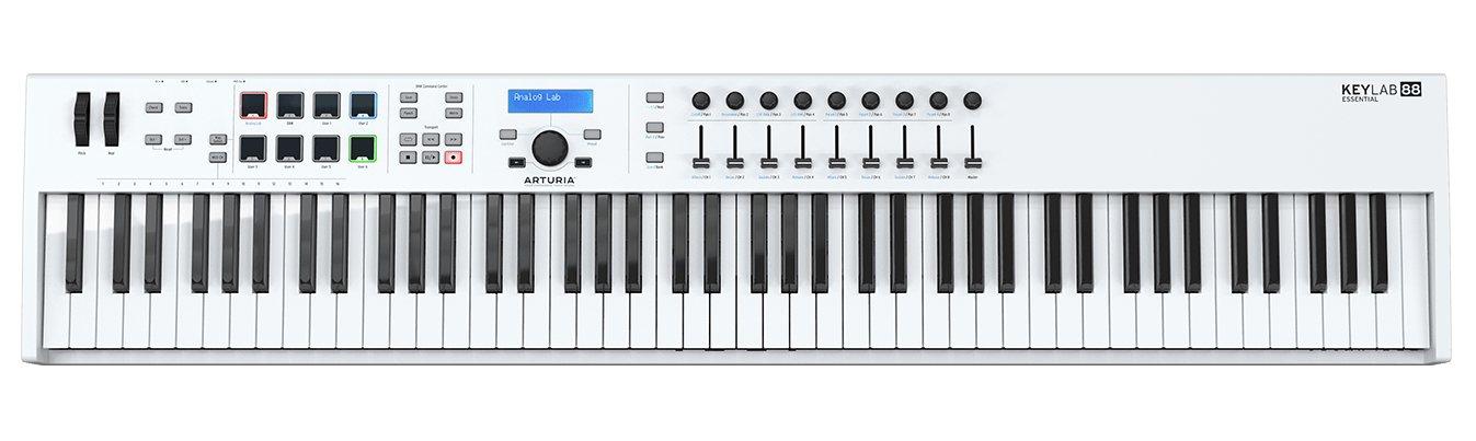 Arturia Keylab Essential 88 Universal Midi Controller - White