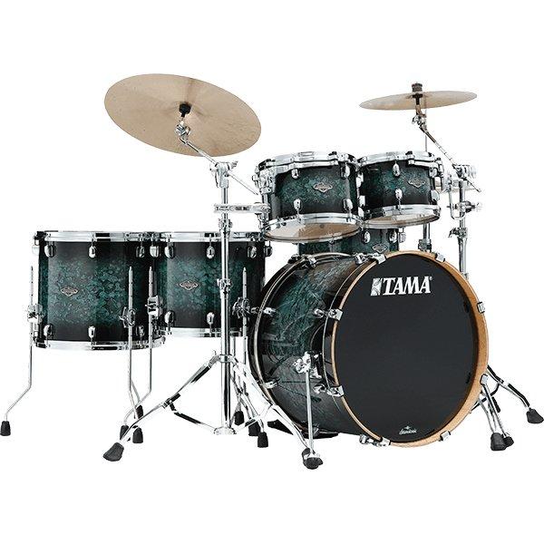 Tama Starclassic Performer 4pc. (Shell Pack) Drum Kit - MSL Molten Steel Blue Burst