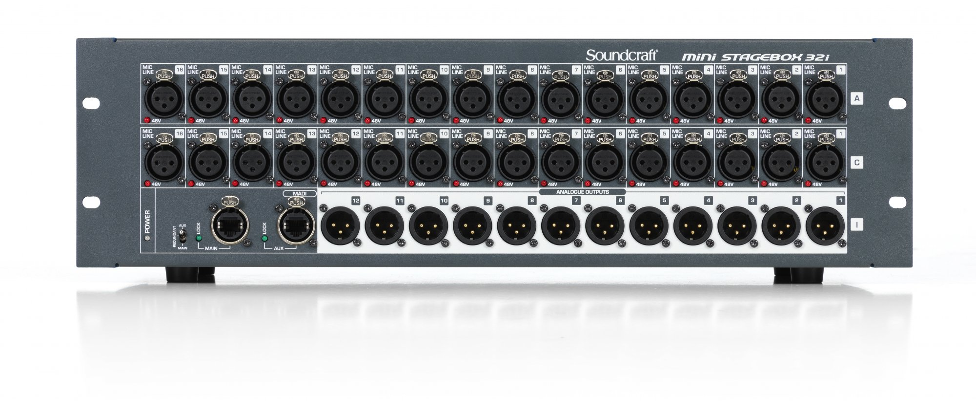Soundcraft Mini Stagebox 32i Compact Digital Stageboxes with Remote Controlled I/O