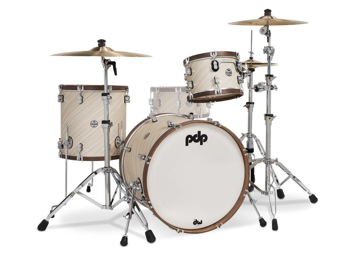 PDP PDLT2213TI 4pc Limited Edition Wood Hoop Kit - Twisted Ivory & Walnut