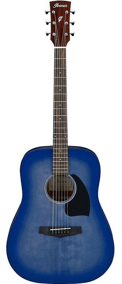Ibanez PF18 Performance Spruce / Okoume Dreadnought Acoustic Guitar - Washed Denim Burst Open Pore
