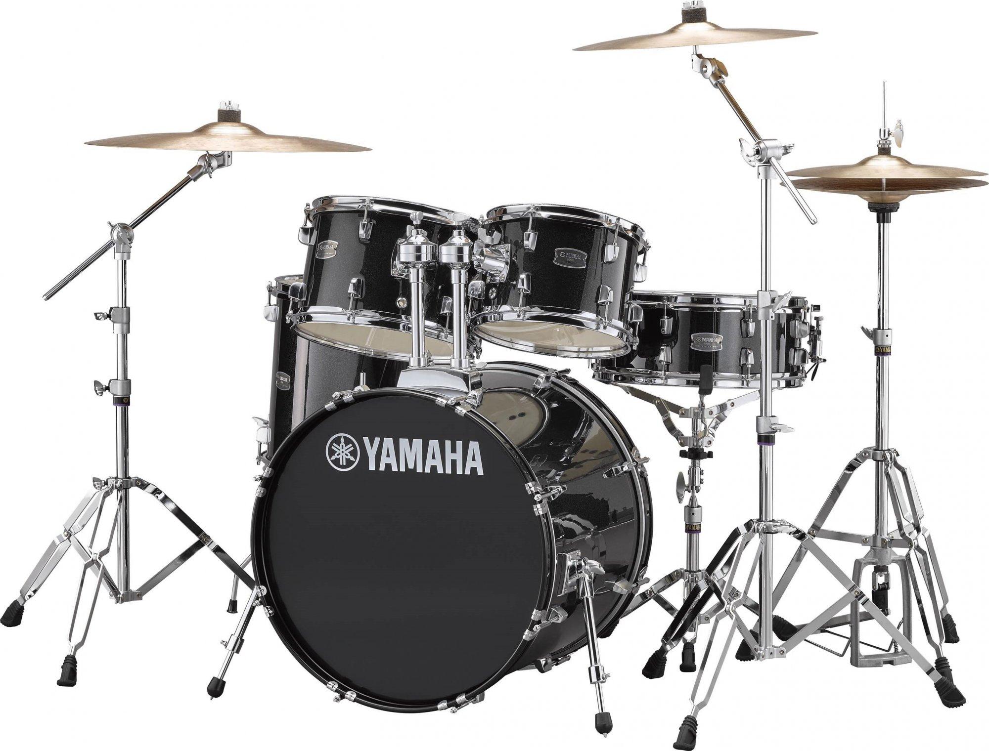 Yamaha RDP0F5 Rydeen 5pc (Shell Pack) Acoustic Drum Kit - Black Glitter