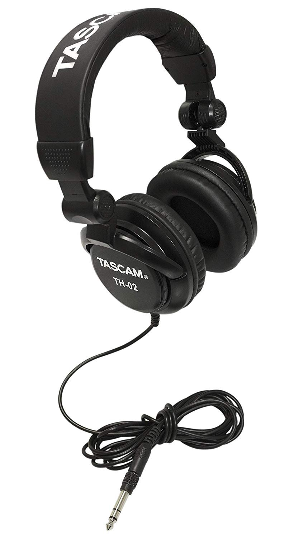 Tascam TH-02 Closed Back Studio Headphone - Black