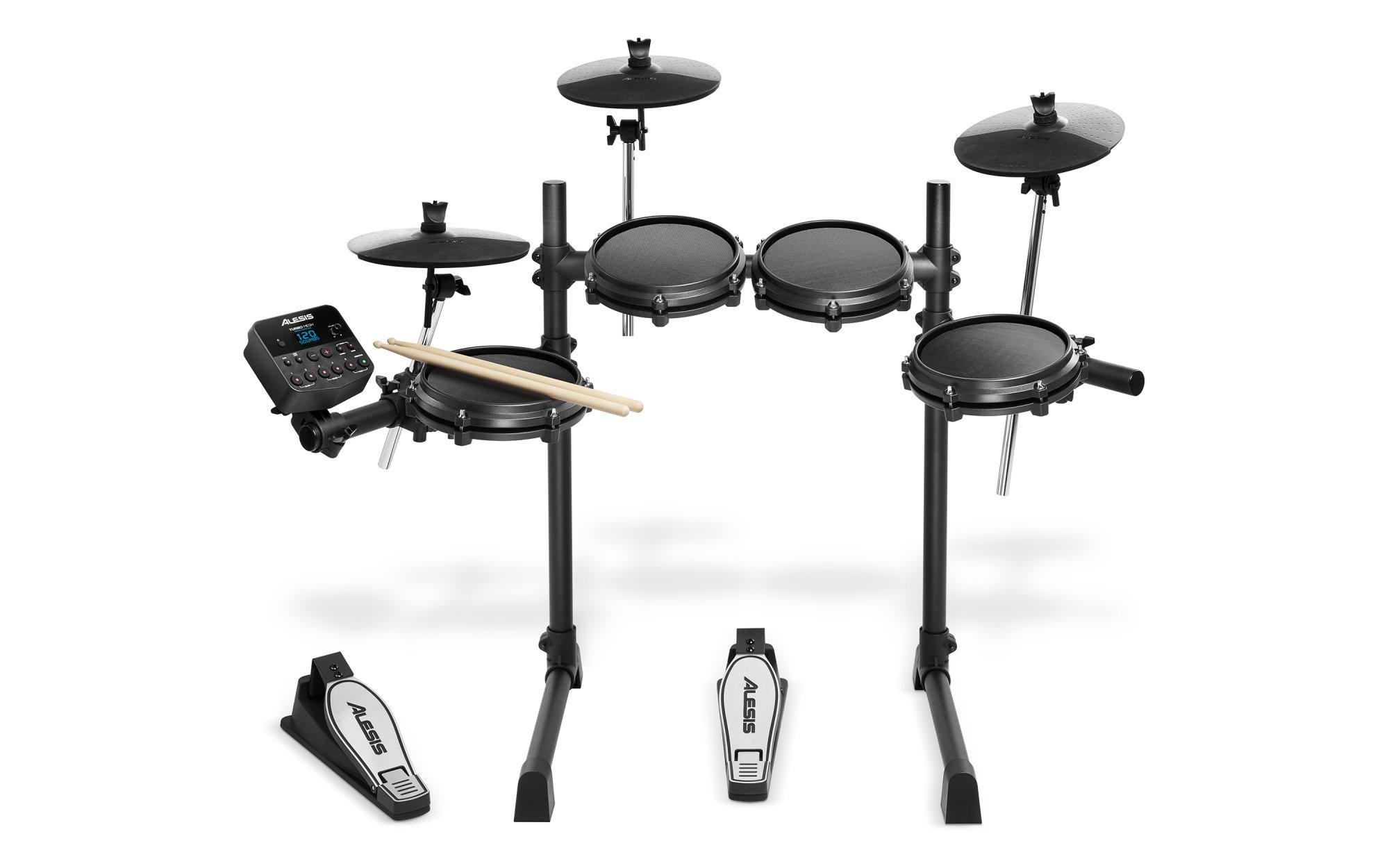 Alesis Turbo Mesh Kit Seven-Piece Electronic Drum Kit with Mesh Heads