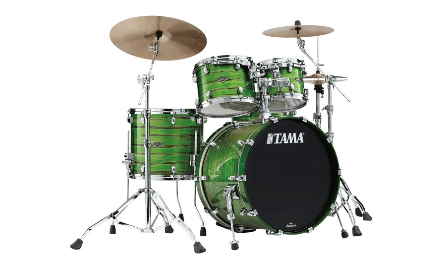 Tama WBS36RS Starclassic (Shell Pack) Walnut/Birch Drum Kit - Lacquer Shamrock Oyster