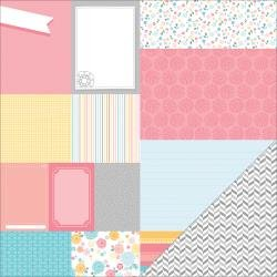 American Crafts My Girl Collection Sunny Savannah 12X12 Double-Sided Paper - Papier double-face