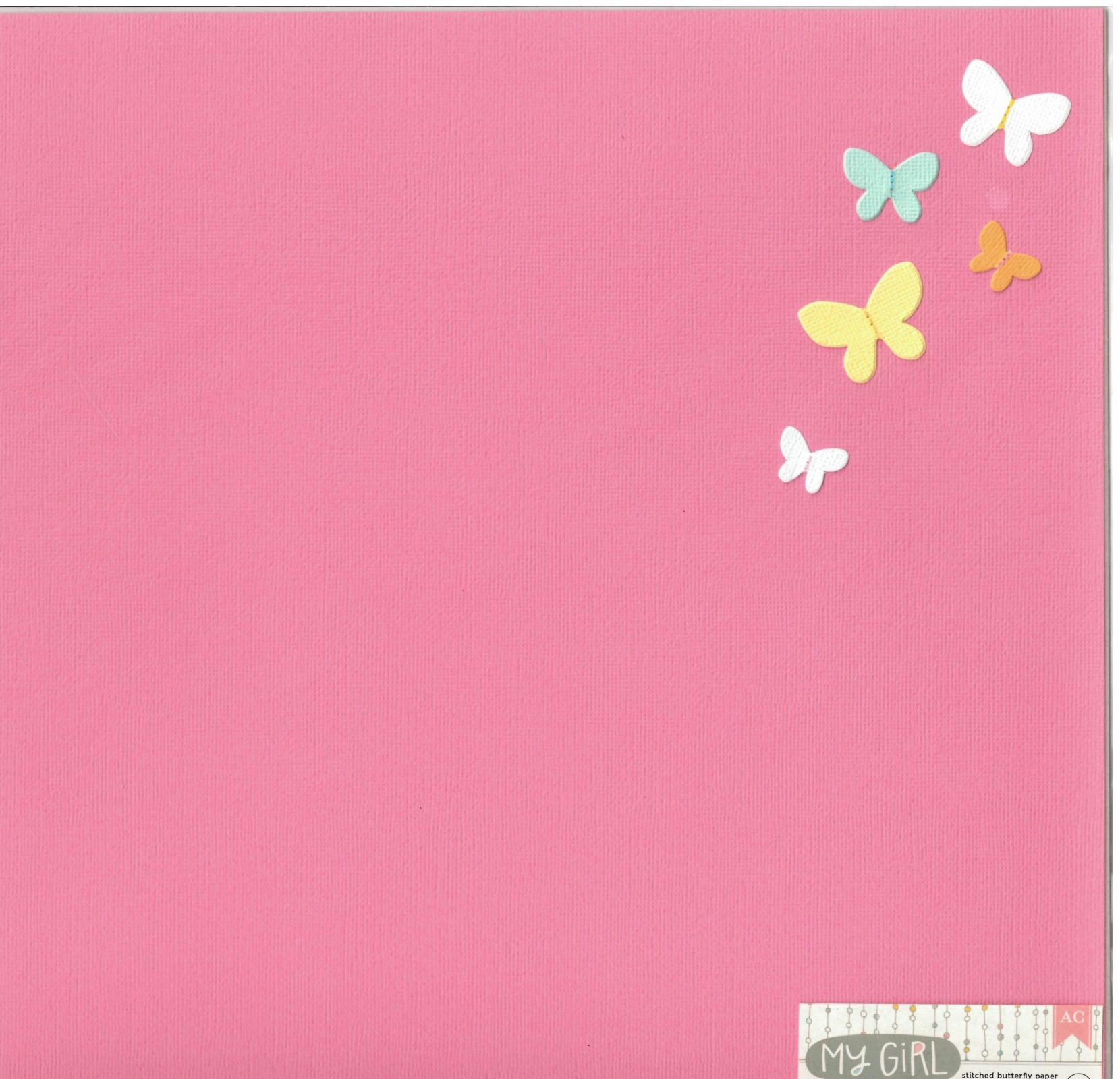 American Crafts My Girl Collection Darling Darcy 12X12 Paper