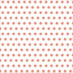 American Crafts - Dear Lizzy Collection Lucky Charms, Lucky Lady Bug 12X12 Vellum - Velin