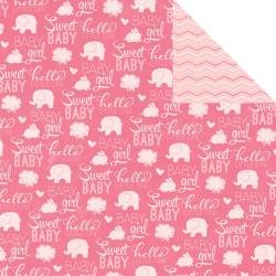 American Crafts Imaginisce My Baby Girl Collection 12X12 Double-Sided Paper, Sweet - Papier double-face