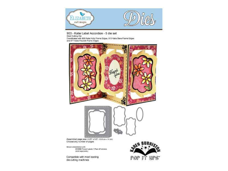 Elizabeth Craft Designs 903 - Katie Label Accordion - Matrice de découpe
