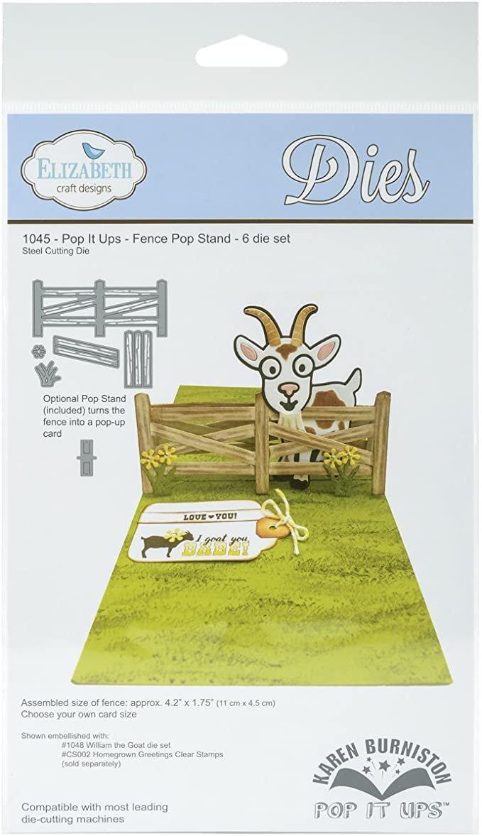 Elizabeth Craft Designs 1045 Pop It Ups - Fence - Matrice de découpe - Clôture