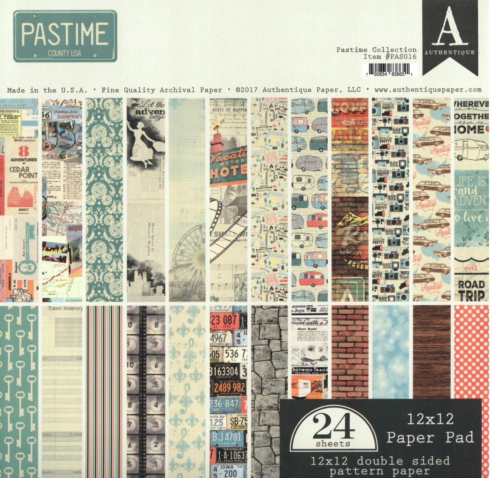 Authentique Pastime 12X12 Collection Pack