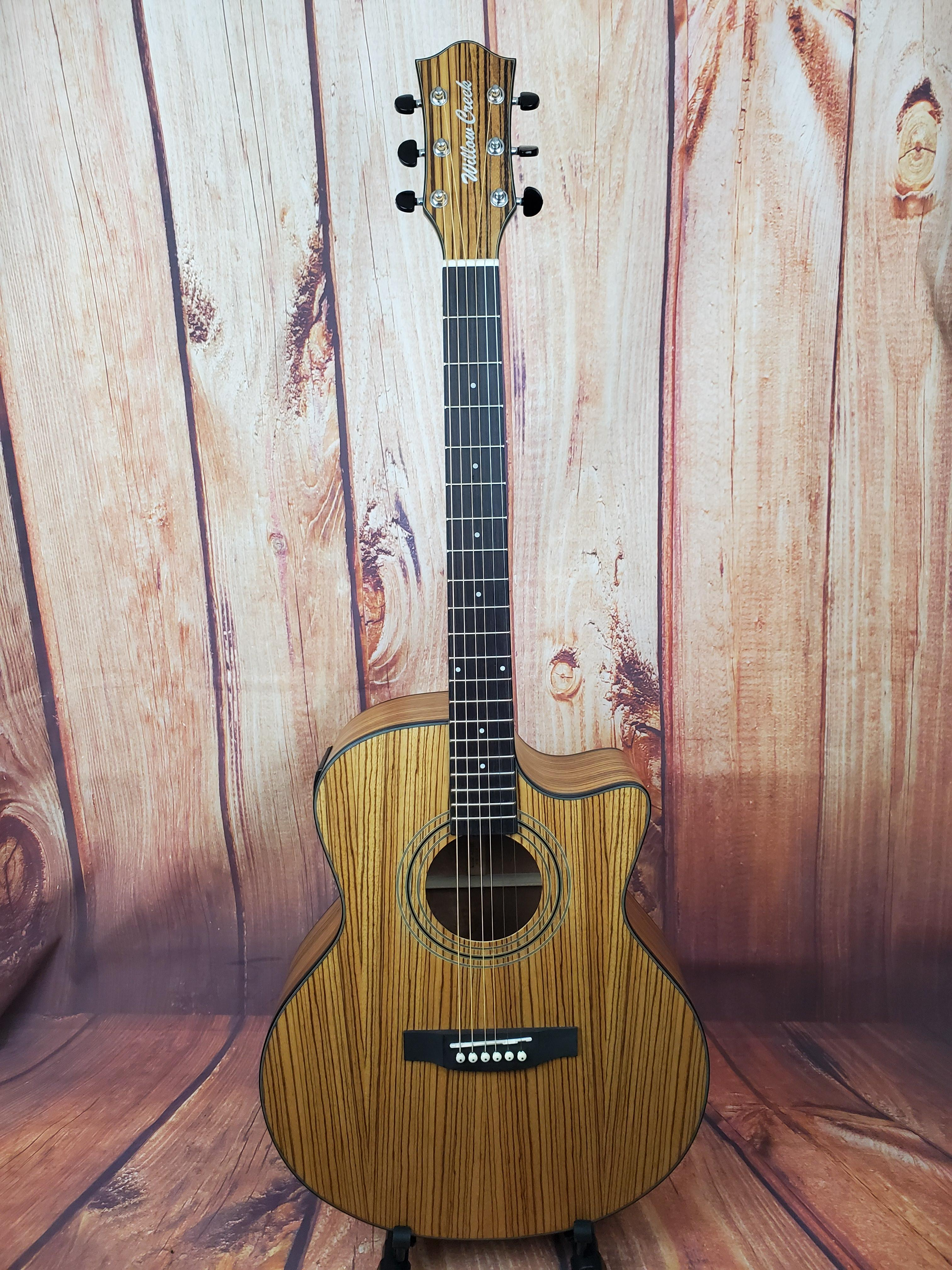 Willow Creek AGZZCE Zebrawood Acoustic-Electric Guitar