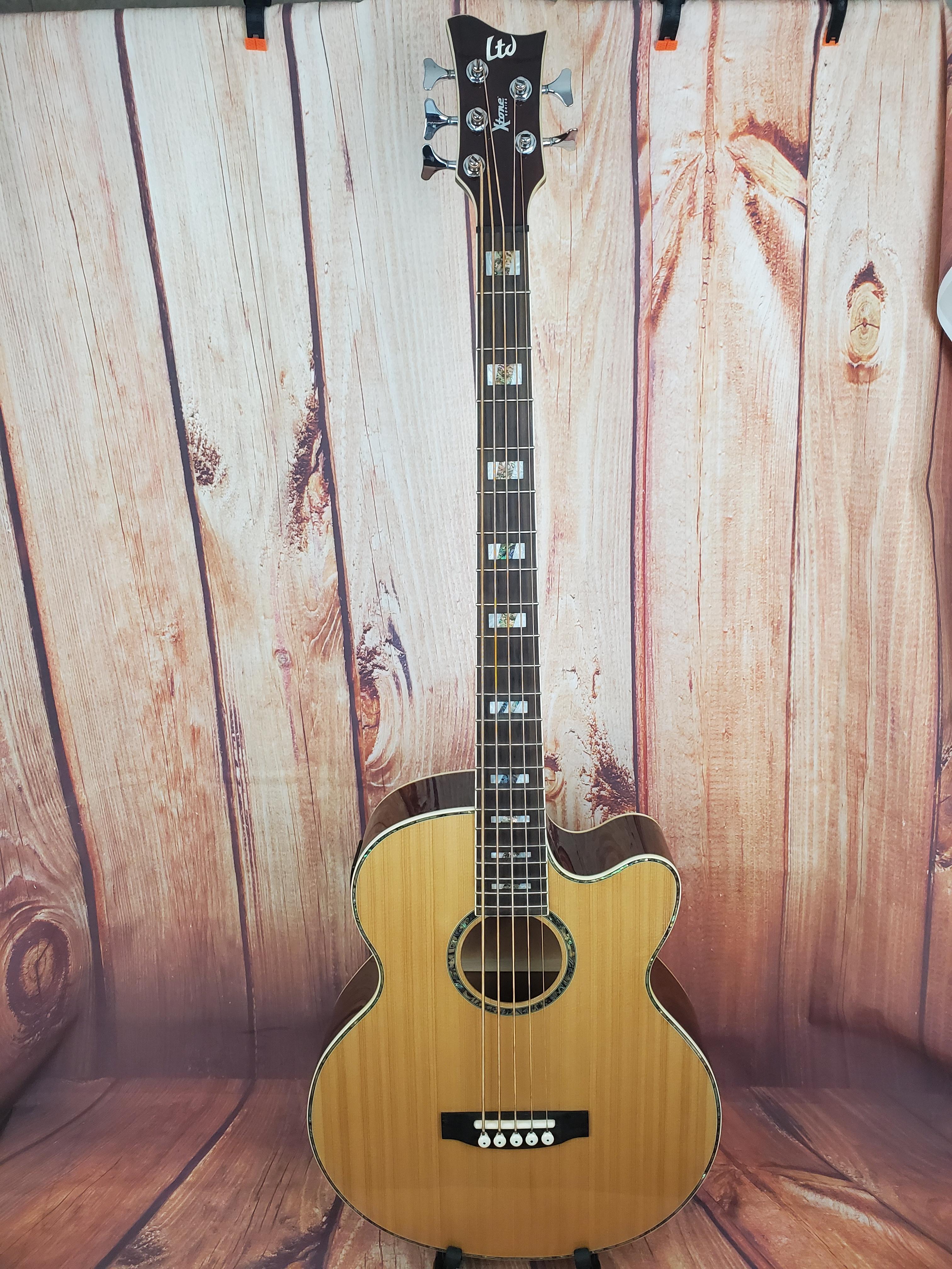 Used- ESP LTD LAC-B5S Acoustic Bass w/ Bag