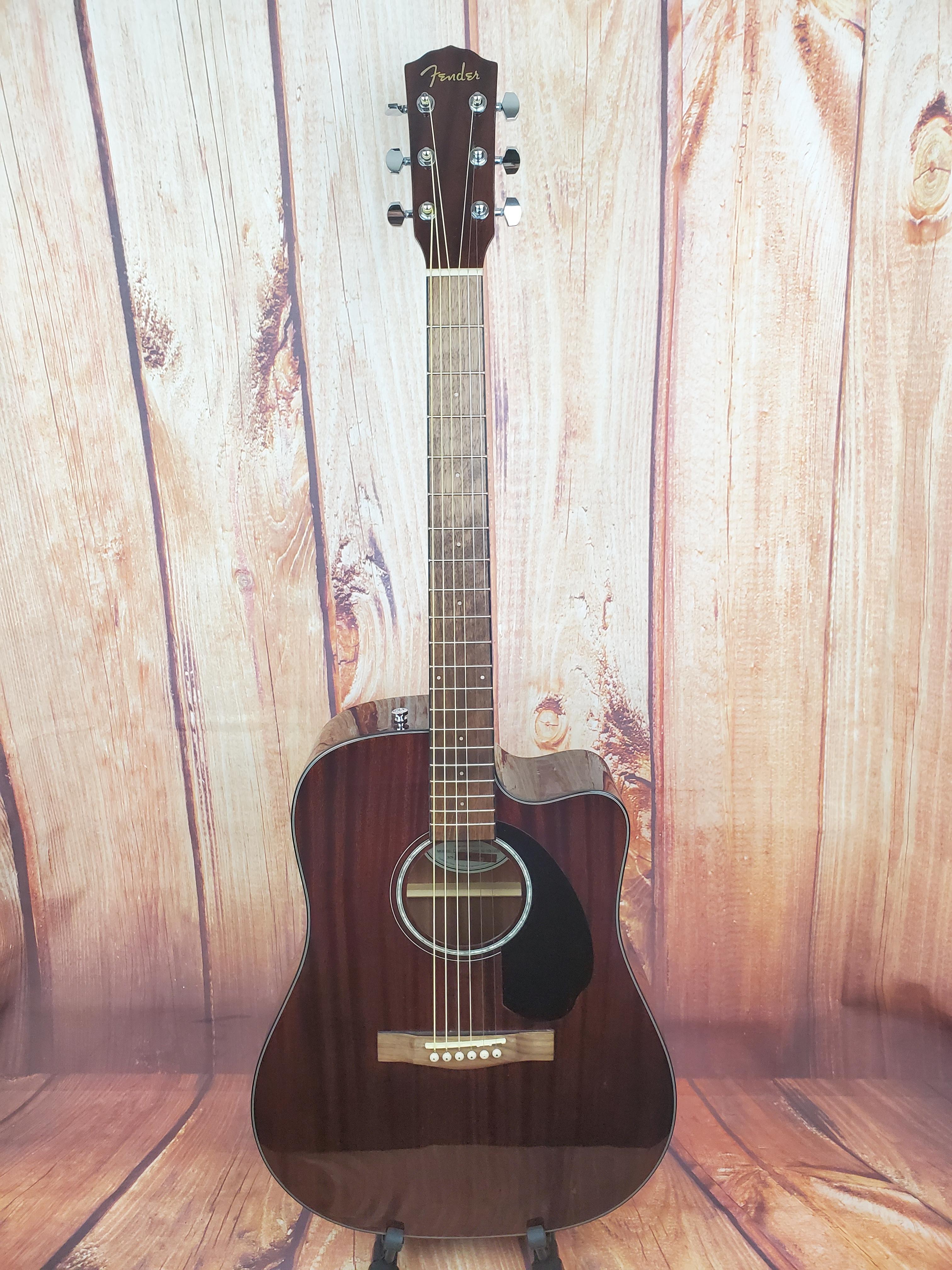 Used- Fender CD-60SCE Mahogany