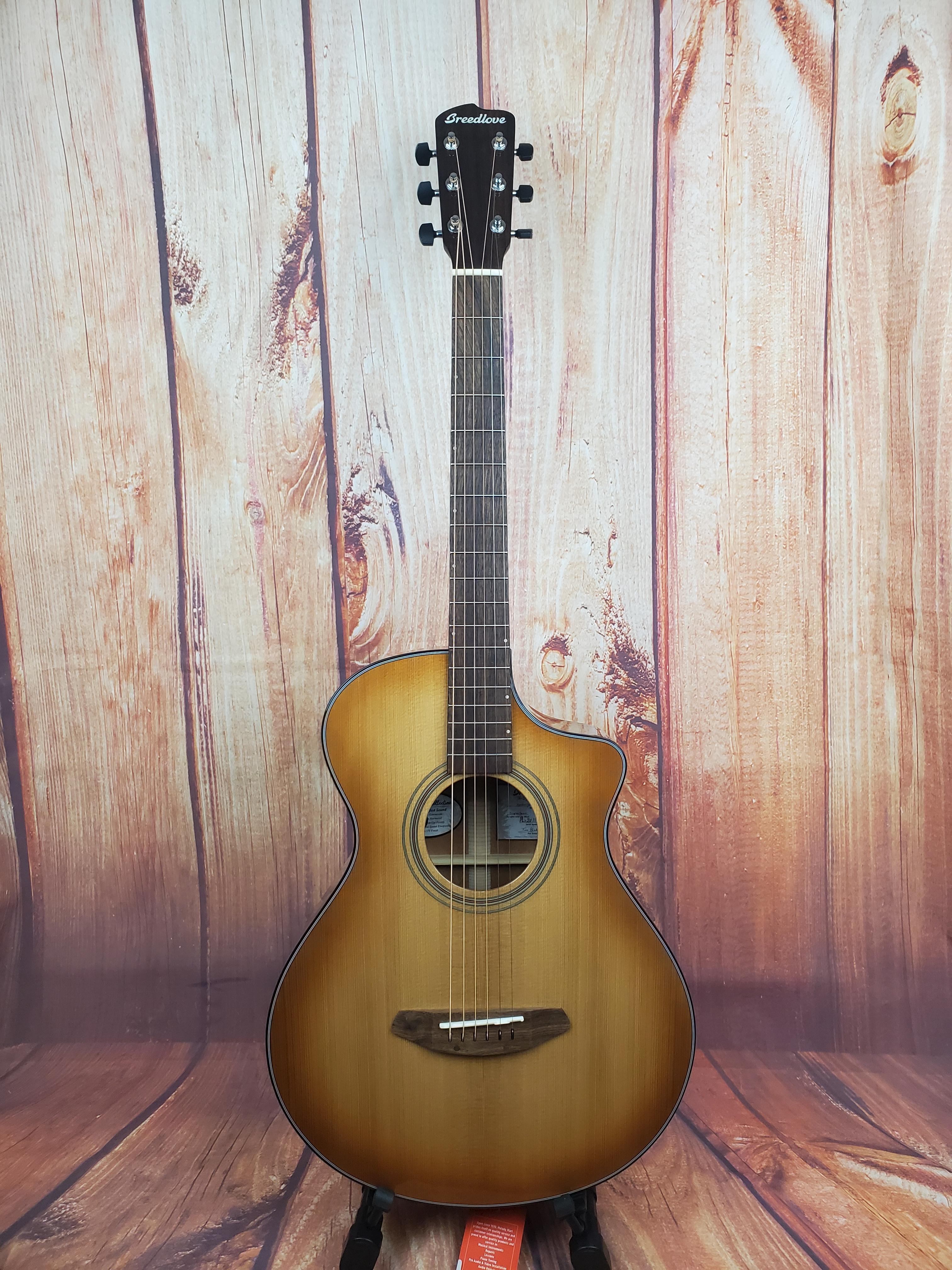 Used-Breedlove Concertina Copper CE A/E Guitar