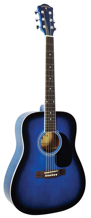 Indiana Scout Acoustic Guitar-Blue Burst