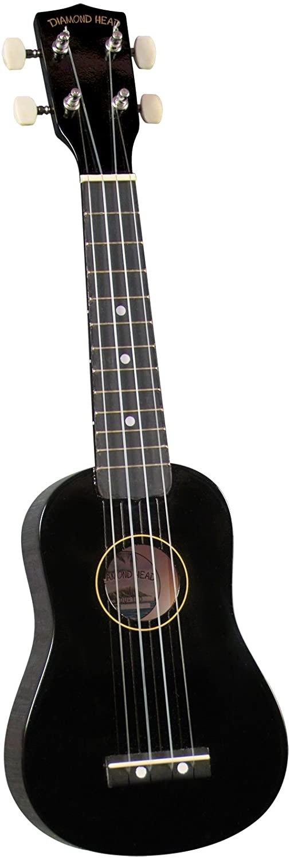 Diamondhead DU-100 Soprano Uke w/ Bag- Black